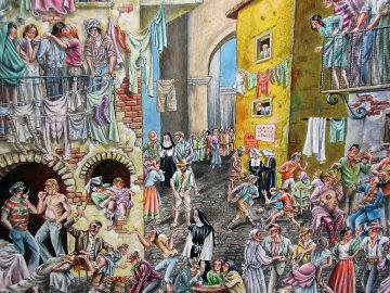 An Ordinary Day 24x18 Original Painting - Eric De Kolb