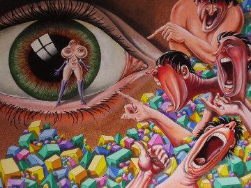 Laughing At Iris 24x18 Original Painting by Eric De Kolb
