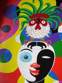 Festive 24x18 Original Painting - Eric De Kolb
