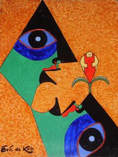 Abstract 2001 24x18 Original Painting - Eric De Kolb