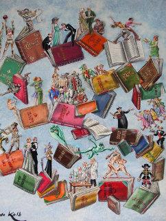 Books of Life 24x18 Original Painting by Eric De Kolb
