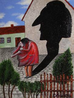 Me and My Shadow G.W. 24x18 Original Painting - Eric De Kolb