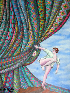 Surprise 24x18 Original Painting by Eric De Kolb