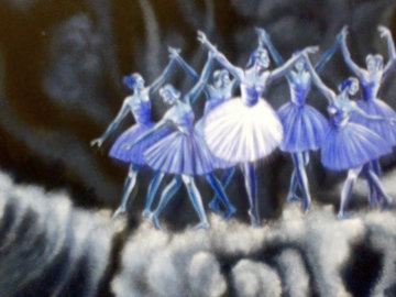 Ballet in the Clouds 24x18 Original Painting - Eric De Kolb