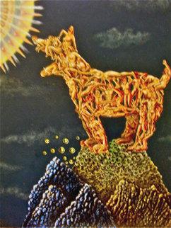 Wolf 24x18 Original Painting - Eric De Kolb