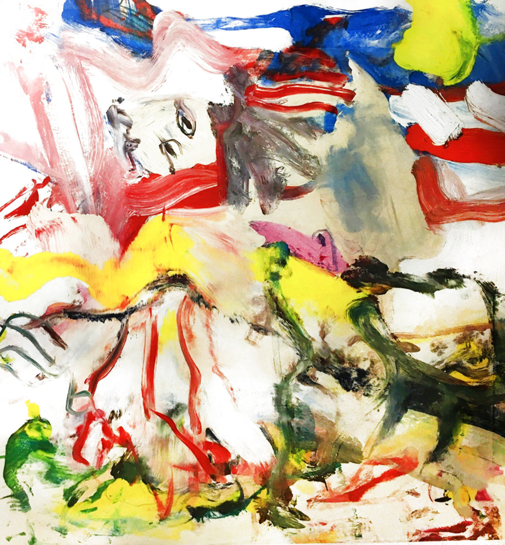 Figures in Landscape VI 1980 Limited Edition Print by Willem De Kooning