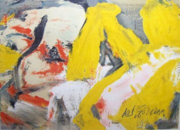 Man and the Big Blonde 1982 Limited Edition Print - Willem De Kooning