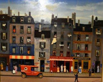 A La Prevoyance 1960 27x35 Original Painting by Michel Delacroix