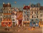 Sortie D' Ecole (Leaving School) AP 1979 Limited Edition Print - Michel Delacroix