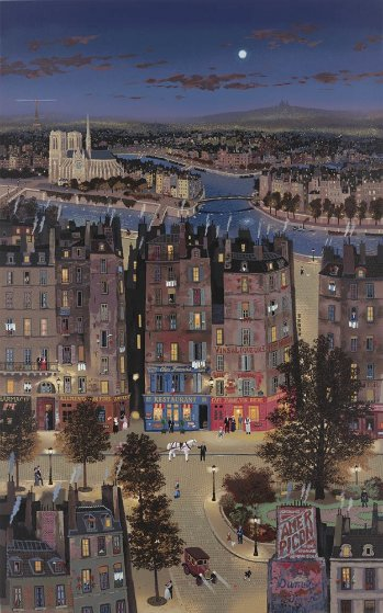 Paris At Night AP 1986 Limited Edition Print by Michel Delacroix