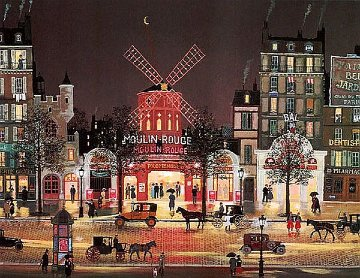 Moulin Rouge 1981 Limited Edition Print - Michel Delacroix