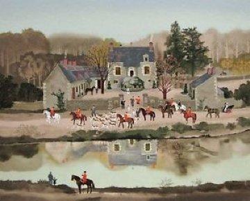 La Sortie Du Chenil 1988 Limited Edition Print - Michel Delacroix
