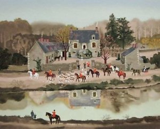 La Sortie Du Chenil 1988 Limited Edition Print by Michel Delacroix