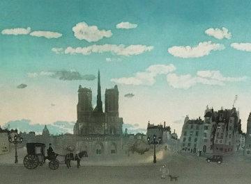 Notre' Dame Au Crepusc Limited Edition Print - Michel Delacroix