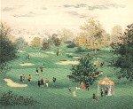 Golf a St Cloud 1990 Limited Edition Print - Michel Delacroix