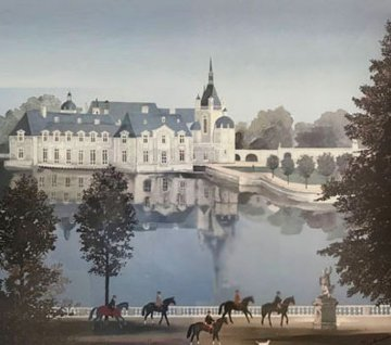 Chateau De Chante (Chateau De Chantilly) 1990 Limited Edition Print - Michel Delacroix