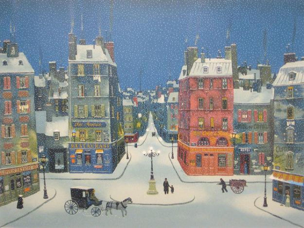 Nuit En Decembre 2008 Limited Edition Print by Michel Delacroix