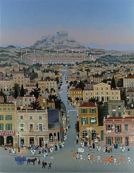 Athens 1896 Olympics Limited Edition Print by Michel Delacroix