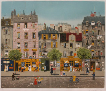 Chez Camille Limited Edition Print by Michel Delacroix