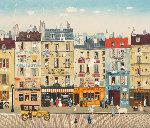 Paris Steet Scene 1983 Limited Edition Print - Michel Delacroix