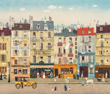 Paris Steet Scene 1983 Limited Edition Print by Michel Delacroix
