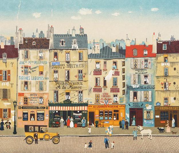 Paris Steet Scene 1983 Limited Edition Print by Michel Delacroix