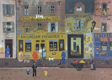 Marketplaces 1990 Limited Edition Print - Michel Delacroix