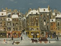 French Winter City Scene Limited Edition Print by Michel Delacroix - 0
