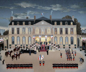 l'Empereur De Japan Au Palais 2002 Limited Edition Print by Michel Delacroix