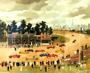 Le Bol D'or a Montlhery 1990 Limited Edition Print by Michel Delacroix
