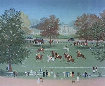 Polo a Bagatelle 1990 Limited Edition Print by Michel Delacroix