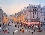 Les Grands Boulevards  Limited Edition Print - Michel Delacroix