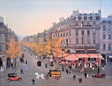 Les Grands Boulevards  Limited Edition Print - Michel Delacroix