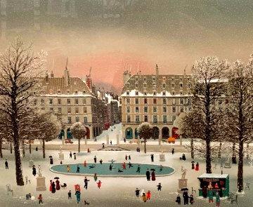 Jardin Des Tuileries La Neige Limited Edition Print - Michel Delacroix