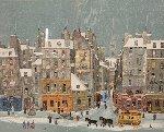 Neige Su La Cite Limited Edition Print - Michel Delacroix