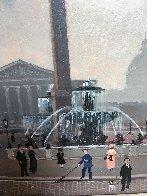 Place De La Concord (Esquisse) 1999 17x15 Original Painting by Michel Delacroix - 2