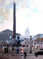 Place De La Concord (Esquisse) 1999 17x15 Original Painting by Michel Delacroix - 0