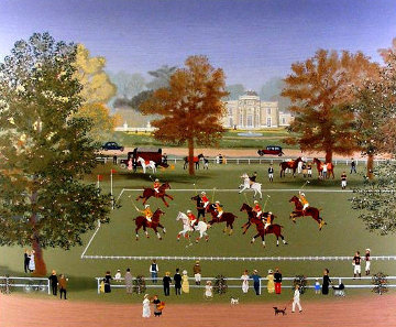Polo a Bagatelle: Les Joies Du Sport Suite Limited Edition Print - Michel Delacroix