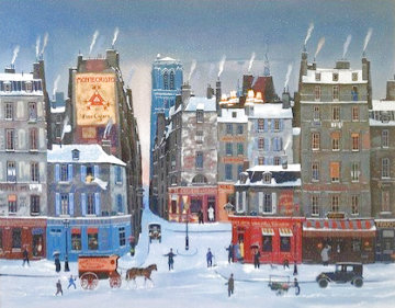 Montecristo Cigars - Winter Scene 1998 Limited Edition Print - Michel Delacroix