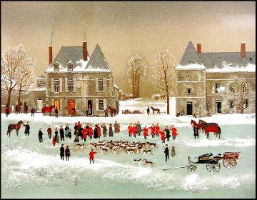 La Chasse a Courre 1988 - Suite of 4 Limited Edition Print - Michel Delacroix