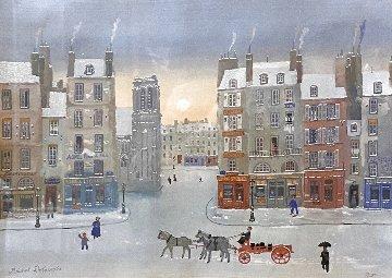 Soleil De Janvier Original 1991 28x33 Original Painting - Michel Delacroix