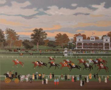 Courses a Vincennes 1990 Limited Edition Print - Michel Delacroix