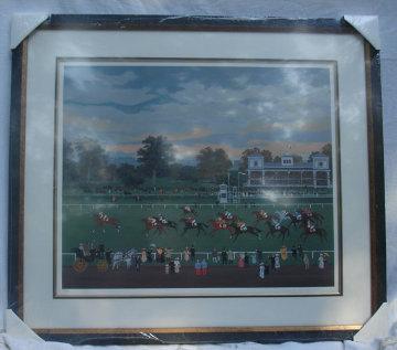 Courses a Vincennes 1990 Limited Edition Print - Michel Delacroix