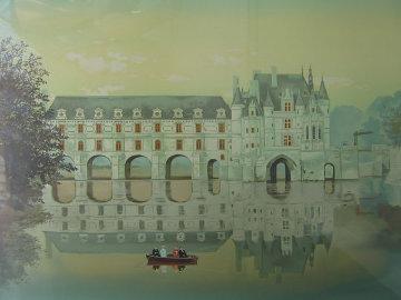Chenonceaux from Les Chateau Suite 1987 Limited Edition Print - Michel Delacroix