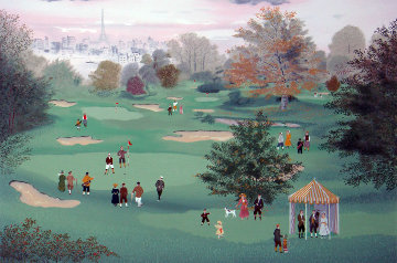 Golf at St. Cloud 1990 Limited Edition Print - Michel Delacroix