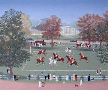 Polo At Bagatelle 1990 Limited Edition Print by Michel Delacroix