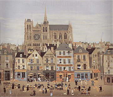 La Cathedrale De Chartes Limited Edition Print - Michel Delacroix