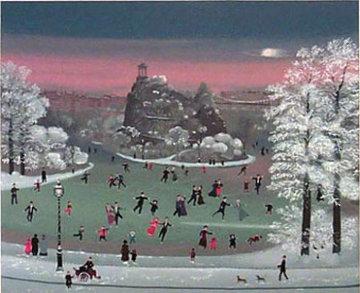 Patinage Dans Le Parc 1990 Limited Edition Print by Michel Delacroix