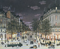 Les Grands Boulevards La Nuit, Paris 2001 Limited Edition Print by Michel Delacroix - 0