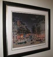 Les Grands Boulevards La Nuit, Paris 2001 Limited Edition Print by Michel Delacroix - 1